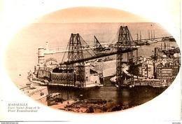 Dpt 13 Marseille Fort St-Jean Et Le Pont Transbordeur Image Ovale Rouge - Marseilles