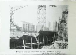 Membrures Et Coques - Architecture De Navire - Chantiers De L'Atlantique  - Coupure De Presse (encadré Photo) De 1959 - Architecture