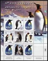 2011 Marshall Islands 50th Anniversary Of The Antarctic Treaty: King Penguins, Emperor Penguins Sheet (** / MNH / UMM) - Tratado Antártico