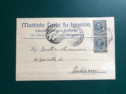GIRGENTI AGRIGENTO MATTIOLO CARLO FU IGNAZIO INDUSTRIA FERRO E CARBONE  1923 - Agrigento