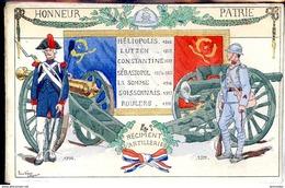Guerre 14-18 Drapeau Legende 4eme Reg. Artillerie De Besancon - War 1914-18