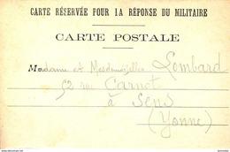 Guerre 14-18 Correspondance Militaire De Guerre Neuve - War 1914-18
