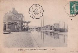 D78  Innondations D'Épone Janvier 1910  La Gare - Epone