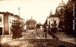 CÂMPULUNG ( MUSCEL / ARGES ) : PIATA REGALA - CARTE VRAIE PHOTO / REAL PHOTO - CLISEUL ORIGINAL ! ~ 1920 - '925 (ae597) - Roumanie
