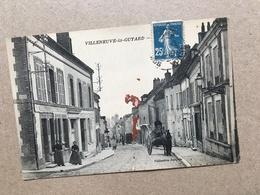 N°1839 YONNE 89. VILLENEUVE LA GUYTARD. RUE ANIMEE. - Villeneuve-la-Guyard