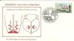 Boulogne Sur Mer- Frederic Sauvage-application De L'hélice-enveloppe- - Ciencia & Tecnología