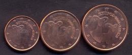 EuroCoins < Cyprus > 1+2+5 Cents 2008 UNC (Set 3 Coins) - Chipre