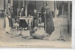 "CARD CINA QUANG-YEU GIUSTIZIA LOCALE DELINQUENTE RICEVE ""LA CADOUILLE""-FP-VIAGGIATA DENTRO BUSTA -2- 0882-29442 - Cina"