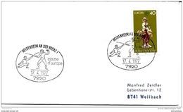 "48-7 - Entier Postal Allemand Avec Oblit Spéciale Thème ""Escrime"" Heidenheim 1977 - Escrime"
