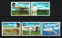 CONGO AVIONS 1977 (2) N° Yvert 471 à 475 Oblitérés Used - Oblitérés