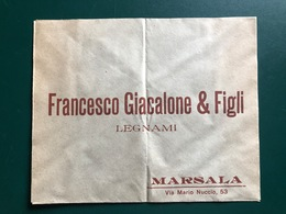 MARSALA (TRAPANI) BUSTA INTESTATA FRANCESCO GIACALONE & FIGLI  LEGNAMI  2 - Marsala