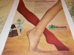 ANCIENNE PUBLICITE TEXTILE D AUJOURD HUI DOUCEUR D AUTREFOIS  LE RILSAN 1960 - Historische Bekleidung & Wäsche