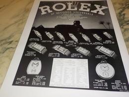 ANCIENNE PUBLICITE  MONTRE ROLEX 27 RECORDS 1936 - Andere