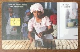 ÎLE MAURICE MAURITHIUS CUISSON DES BISCUITS MANIOC TELE CARD PHONE CARD TELECARTE CARTE TÉLÉPHONIQUE - Mauritius
