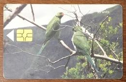 ÎLE MAURICE MAURITHIUS PERROQUET PARROT TELE CARD PHONE CARD TELECARTE CARTE TÉLÉPHONIQUE - Mauritius