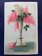 """Embossed-Gaufrée--""""Vase Art Nouveau Avec Des Lilas""""(2443)--1906 - Autres"""
