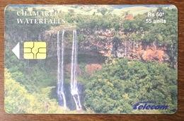 ÎLE MAURICE MAURITHIUS CHAMAREL WATERFALLS 04/2003 TELE CARD PHONE CARD TELECARTE - Mauritius