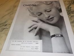 ANCIENNE PUBLICITE SOULIGNE ELEGANCE  MONTRE OMEGA 1936 - Jewels & Clocks