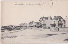 By - Cpa QUIBERON - Les Villas Sur La Plage - Quiberon