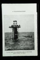 """Au Large De HARLINGEN (Pays Bas) Chasse Au Trésor - La """"Frégate La LUTINE""""  -  Coupure De Presse (encadré Photo) De 1935 - Macchine"""