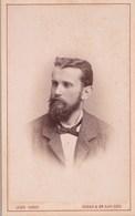 Man With Beard - Atelier G J VARGA - Zagreb Agram Gr. Kanizsa. Old Cardboard Cabinet Photo. 6,5x10,5cm - Croatia - Antiche (ante 1900)