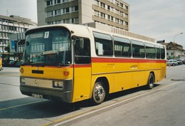 Sion Bahnhof; Postauto, Car Postal, Autobus, Volvo; Originalfoto, Kein AK! - Bus & Autocars