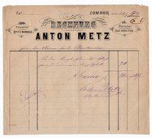 1874 AUSTRIA, HUNGARY, SERBIA, SOMBOR, ANTON METZ, INVOICE ON LETTERHEAD - Autriche