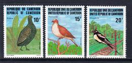 1982 Cameroun Birds Oiseaux   Complete Set Of 3 *HINGED* - Camerun (1960-...)