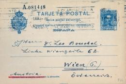1929 , MADRID - VIENA , ENTERO POSTAL CIRCULADO , ED. 59 , ALFONSO XIII - 25 CTS. - Interi Postali