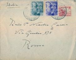 1941 , LA RIOJA , SOBRE CIRCULADO ENTRE SANTO DOMINGO DE LA CALZADA - ROMA , CENSURA GUBERNATIVA DE BARCELONA - 1931-50 Cartas