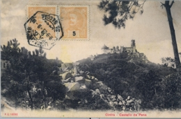 1909 , PORTUGAL  , T.P. CIRCULADA , CINTRA / SINTRA - CASTELLO DA PENA - 1910 : D.Manuel II