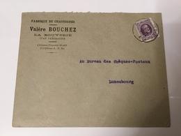 Départ 1€ : Belgique Lettre Pour Le Luxembourg 1924 La Bouverie Chaussures - Lettres & Documents