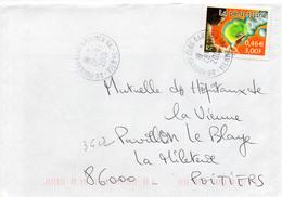 France N° 3422 Y. Et T. Vienne Poitiers Clos Gaultier An Cachet A9 Du 28/09/2001 - 1961-....