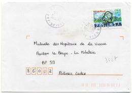 France N° 3427 Y. Et T. Vienne Jazeneuil Cachet A9 Du 11/10/2001 - 1961-....