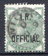 GRANDE BRETAGNE - 1882 - Service - N° 2 - 1/2 D. Vert - (Victoria) - (Surchargé : I. R. OFFICIAL) - Servizio