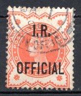 GRANDE BRETAGNE - 1888-1901 - Service - N° 10 - 1/2 D. Rouge - (Victoria) - (Surchargé : I. R. OFFICIAL) - Service