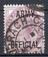GRANDE BRETAGNE - 1896-1901 - Service - N° 43 - 1 D. Violet - (Victoria) - (Surchargé : ARMY OFFICIAL) - Service