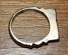 Bague Bronze Africaine De Mauritanie Dite Bague De Touareg - 4.4gr - African Bronze Ring - Volksschmuck