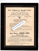 Base Aérienne Du BOURGET - DUGNY  54ème Escadre à Dissoudre - Faire Part De Décès Humoristique - Cachet DUGNY - Marcophilie (Lettres)
