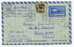 United Nation New York /  Aérogramme Taxé En France / 1960 - Cartas