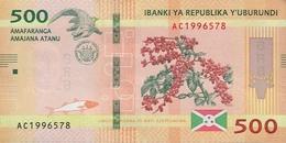Burundi (BRB) 500 Francs 2015 UNC Cat No. P-50a / BI236a - Burundi