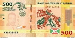 Burundi (BRB) 500 Francs 2018 (2019) UNC Cat No. P-50b / BI236b - Burundi