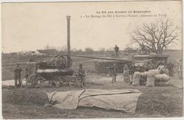 CPA 89   SERVINS  LE BATTAGE DU BLE  COMMUNE DE PAILLY - Autres Communes