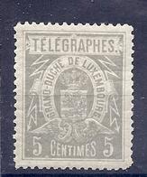 200034409  LUXEMBURGO  YVERT  TELEGRAFOS   Nº  1  */MH - Telégrafos
