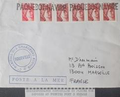 "A355 - POSTE MARITIME - PAQUEBOT "" TOURVILLE "" - ✉️ (1979) DOUALA (CAMEROUN) à MARSEILLE (FRANCE) - Maritieme Post"