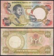 Nigeria 20 Naira Banknote (1977-84) Pick 18e Sig.6 F (4)    (25490 - Banconote
