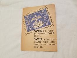Bulletin  D Adhesion Mouvement  National D Epargne - Documents Historiques