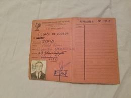 Rygby Fédération  Française  Licence De Joueur U.S. Galeries Lafayette  1963 - Rugby