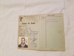 Rygby Fédération  Française  Licence De Senior U.S. Galeries Lafayette  1968 - Rugby
