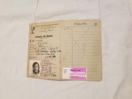 Rygby Fédération  Française  Licence De Senior U.S. Galeries Lafayette  1974 - Rugby